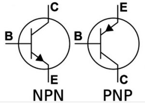 pnp and npn transistor