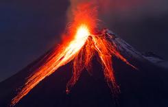 volcano in hindi