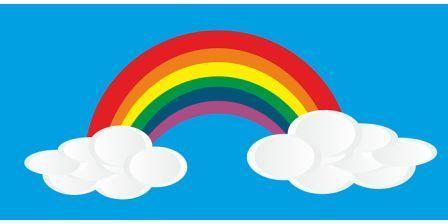 Rainbow Colours Name in Hindi - इंद्रधनुष के
