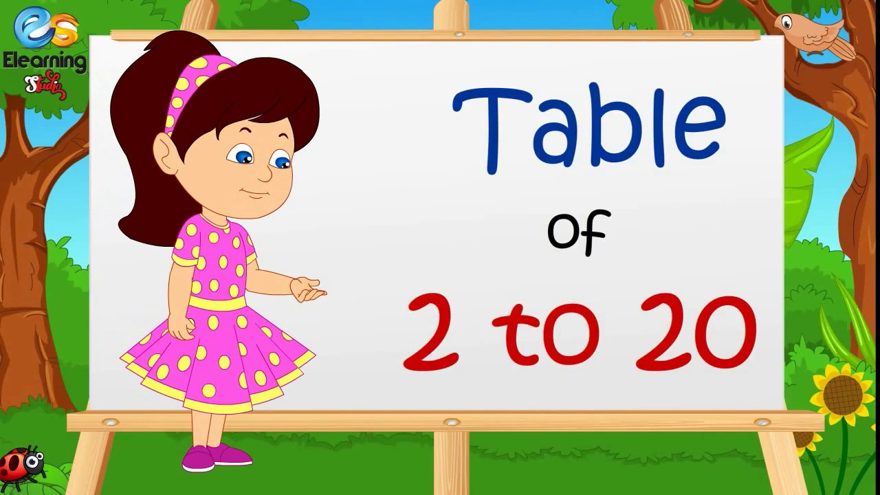2 to 20 table